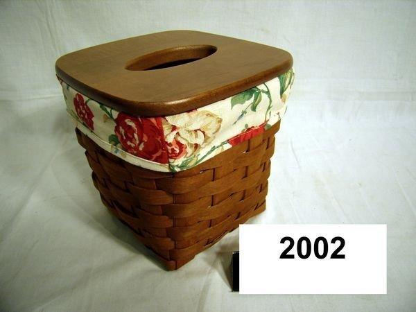 2002: Longaberger: 2006 TISSUE W/LINER & WOODEN LID
