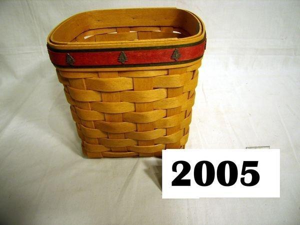 2005: Longaberger: 2006 TALL TISSUE TRIM-A-BASKET
