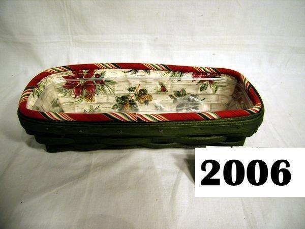 2006: Longaberger: 2006 CRACKER COMBO - GREEN