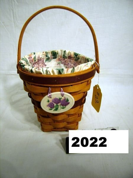 2022: Longaberger: MAY SERIES 1994 LILAC COMBO W/TIE-ON