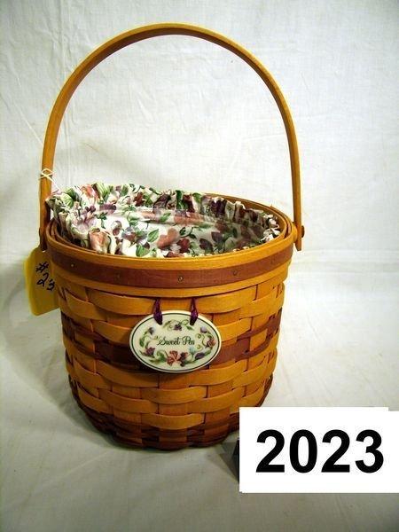 2023: Longaberger: MAY SERIES 1996 SWEET PEA COMBO W/TI