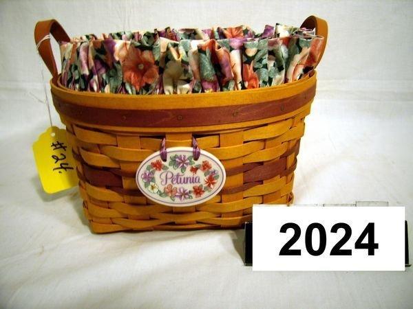 2024: Longaberger: MAY SERIES 1997 PETUNIA COMBO W/TIE-