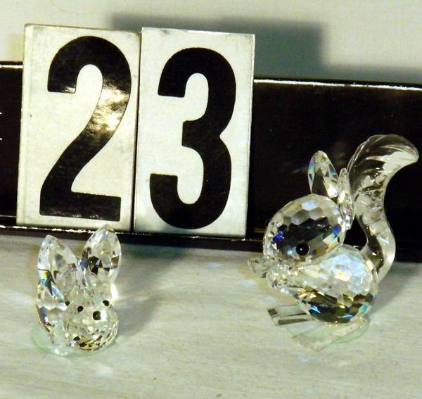 23: SWAROVSKI CRYSTAL SQUIRREL AND SMALL RABBIT