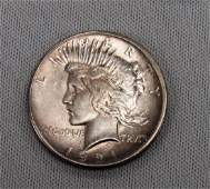 1921 PEACE DOLLAR: