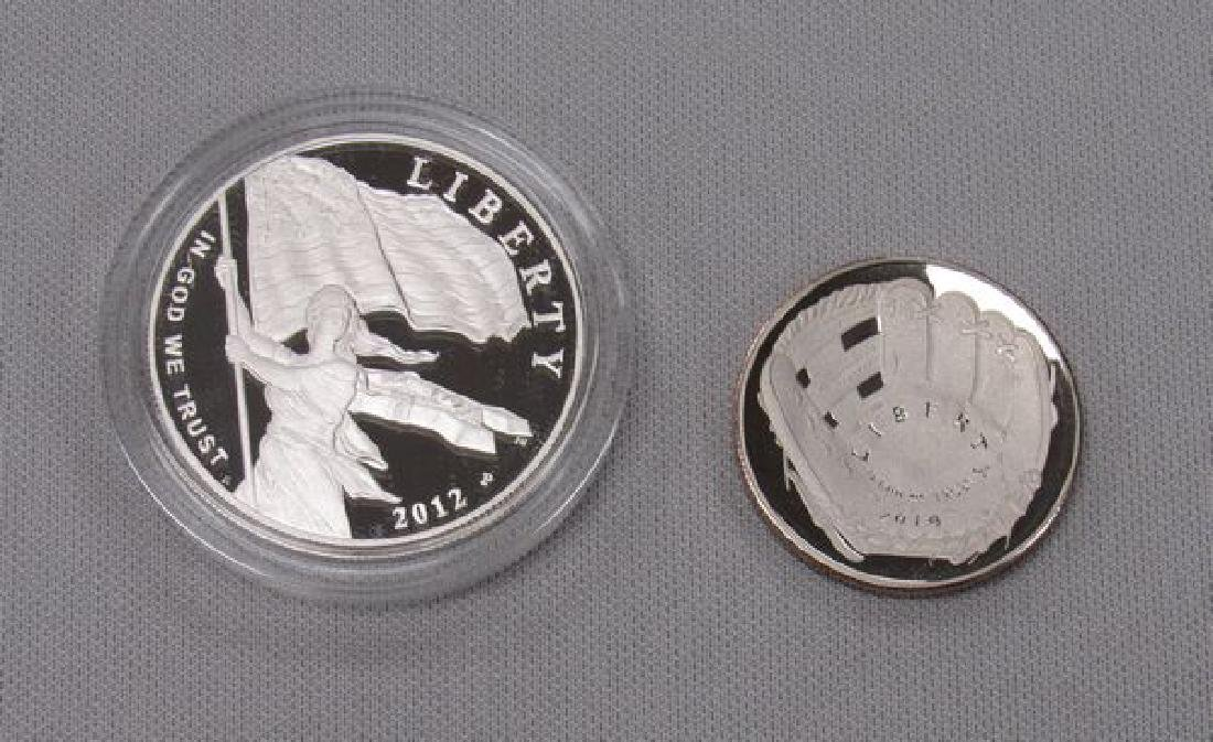 (2)COMMEMORATIVE SILVER PROOF ROUNDS: