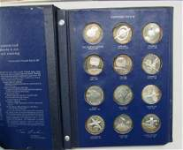 (36) 1OZ STERLING ROUNDS AMERICA IN SPACE: