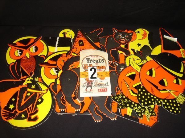 2: Halloween Cardboard Decoration and Treat Bags
