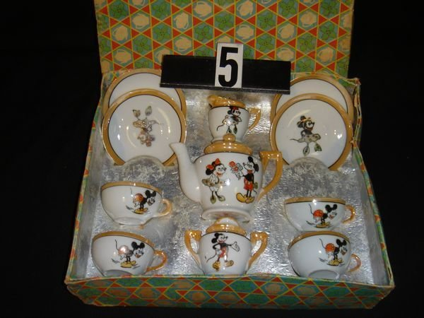 5: Early Mickey Mouse Tea Set In Original Box