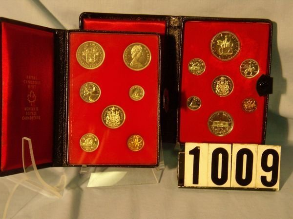1009: 1971 & 73 Canadian Double Dollar Prooflike Sets