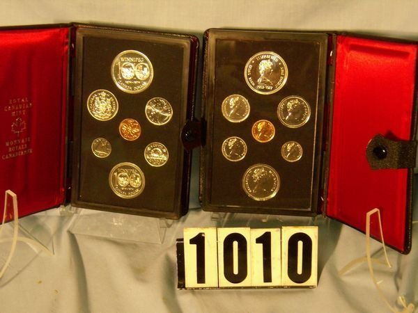 1010: 1974 & 77 Canadian Double Dollar Prooflike Sets