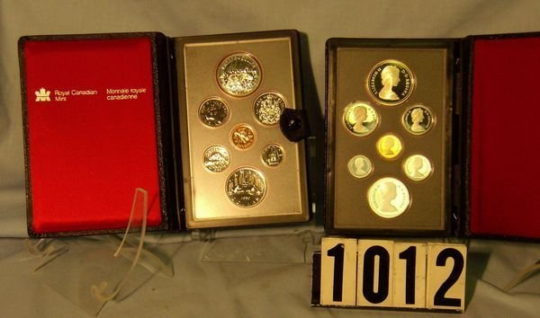 1012: 1980 & 81 Canadian Double Dollar Prooflike Sets