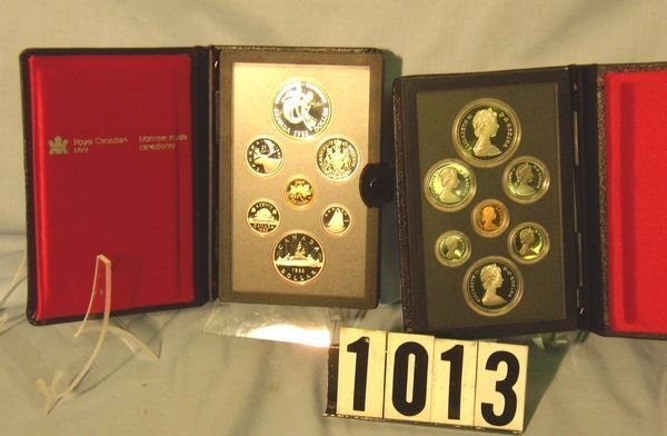 1013: 1982 & 83 Canadian Double Dollar Prooflike Sets