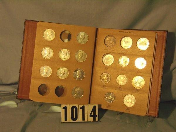 1014: Folder w/ 29 Canadian Dollars 1939-78 (13 Silver)