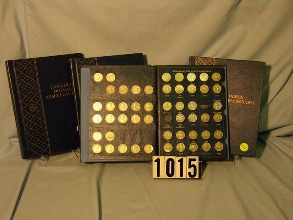1015: 3 Folders Canadian Coins - Dollars, Quarters, etc