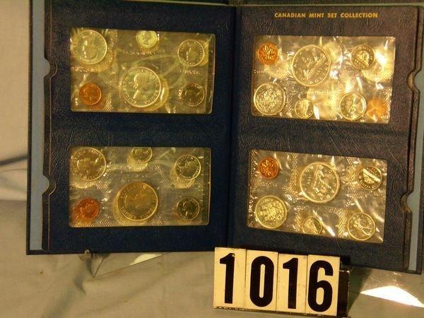 1016: 8 Canadian Mint Sets 1961-68