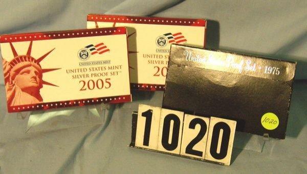 1020: 1975 & 2005 w/ Quarters- Proof Sets