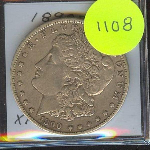 1108: 1890 Cc Morgan Dollar XF+ Rare