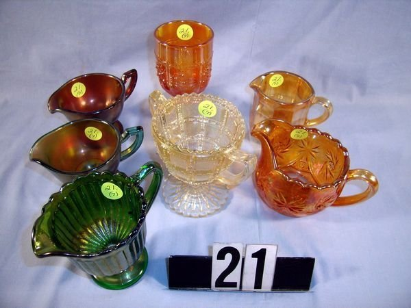 21: Carnival Glass Lot - Orange Tree Wine, etc