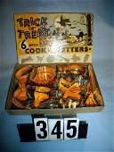 345 Vintage Halloween 6 Metal Trick Or Treat Cookie Cu