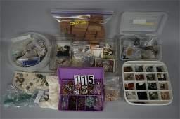 BOX OF ASSORTED COSTUME JEWELRY,