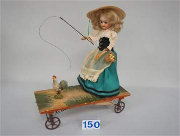 ANTIQUE PULL-TOY WITH LANTERNIER