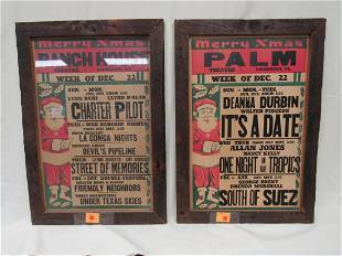 (2) FRAMED MOVIE POSTERS FROM PALMERTON, PA:
