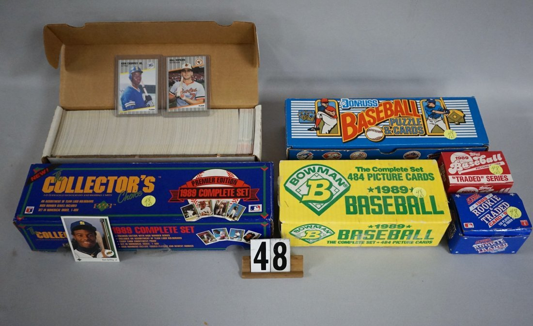 (6) 1989 BASEBALL CARD SETS,