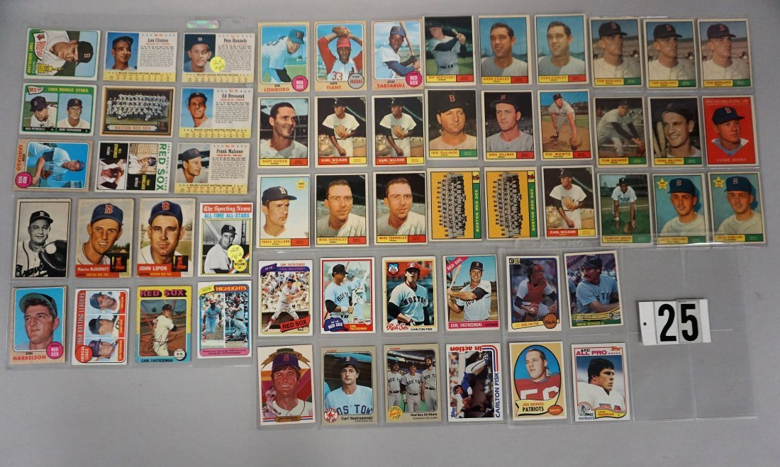 (56) BOSTON RED SOX (MOSTLY BASEBALL) CARDS