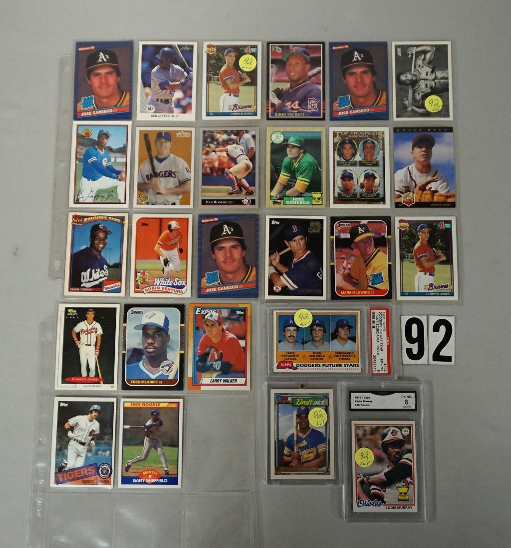 BASEBALL CARD ROOKIE LOT: