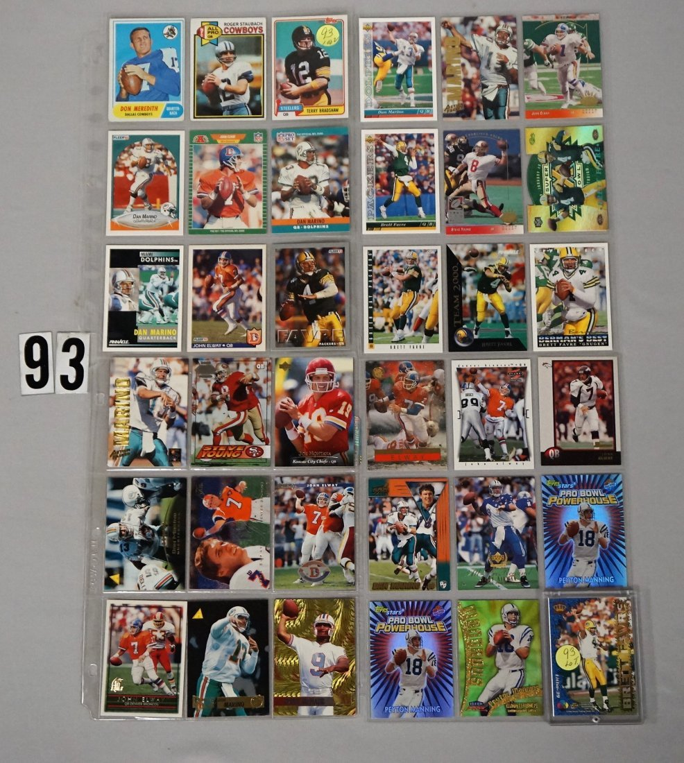 (36 CARDS) NFL PRO FOOTBALL HALL OF FAMERS:
