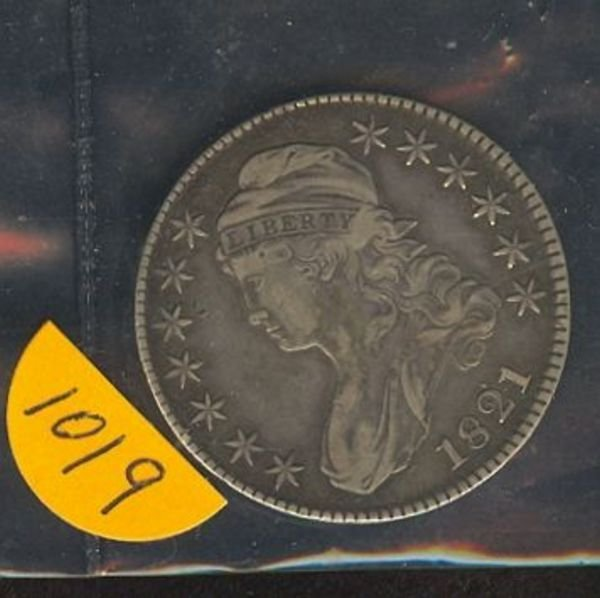 1019: 1821 CAPPED BUST HALF - F