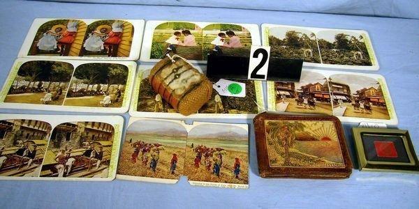 1002: LOT: BLACK MEMORABILIA- (8) STEREOVIEW VIEW CARDS