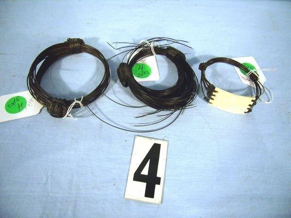 1004: (3 PCS) AFRICAN ELEPHANT HAIR BRACELET, GIRAFFE &