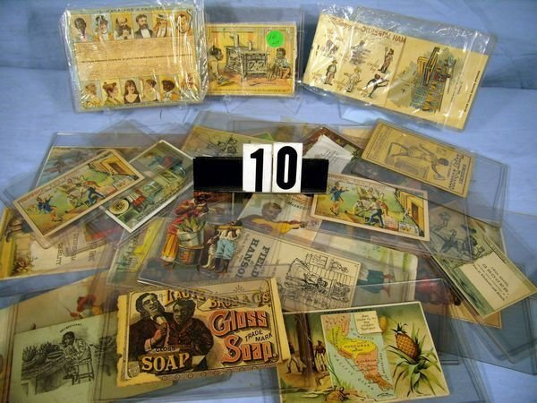 1010: LOT OF (34) ASSORTED ADVERTISING TRADE CARDS W/BL