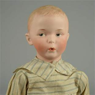 """HEUBACH 8774 """"WHISTLING JIM"""" CHARACTER DOLL 15 IN."""