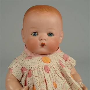 RARE BISQUE SKIPPY BABY DOLL 9 1/2 IN.