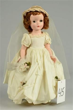 MADAME ALEXANDER WENDY BRIDE 14 IN.