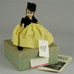 "BOXED MADAME ALEXANDER 1957 WENDY ""AGATHA"" 8 IN."