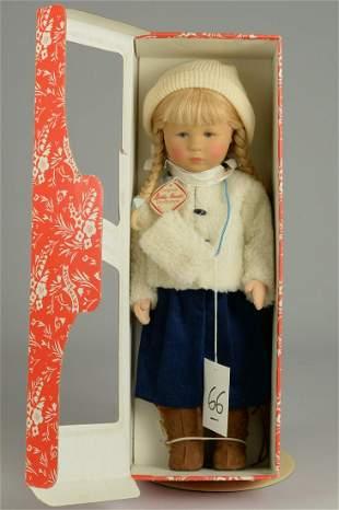 BOXED KATHE KRUSE GIRL DOLL 18 IN.