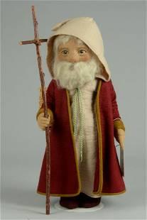 EARLY R JOHN WRIGHT FATHER CHRISTMAS ALL FELT DOLL