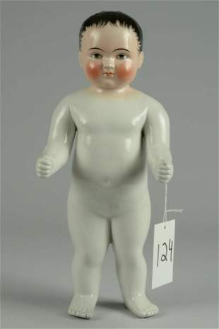 LARGE CHINA FROZEN CHARLOTTE DOLL 16 IN.
