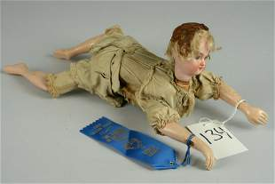 """FRENCH MECHANICAL """"ONDINE"""" SWIMMING DOLL 16 IN."""
