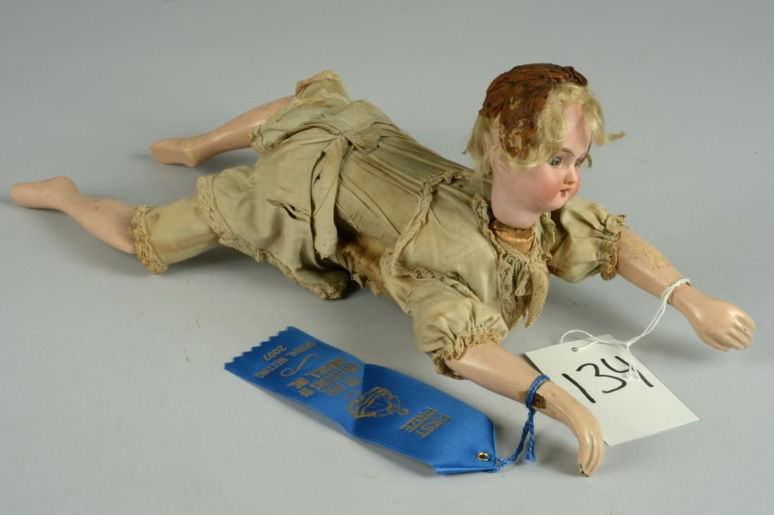 FRENCH MECHANICAL 'ONDINE' SWIMMING DOLL 16 IN.