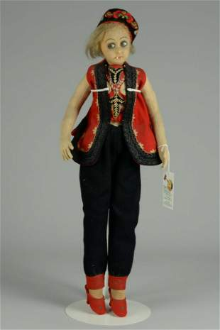 LENCI BOUDOIR DOLL WITH CIGARETTE 26 IN.