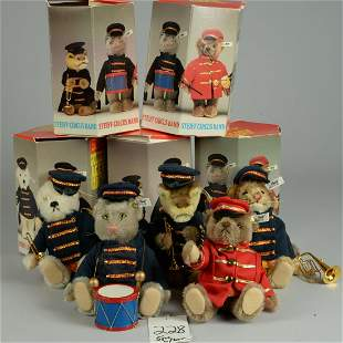 STEIFF CIRCUS BAND WITH ORIGINAL BOXES