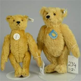 TWO STEIFF REPLICA MOHAIR TEDDY BEARS