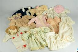 LARGE LOT ANTIQUE AND VINTAGE DOLL CLOTHING