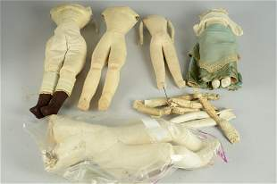 LOT OF 5 FRENCH AND GERMAN DOLL BODIES