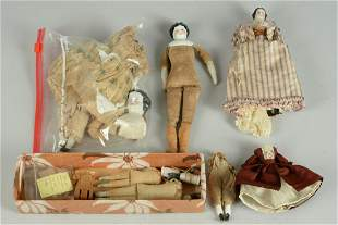LOT OF 8 SMALL GERMAN DOLL BODIES