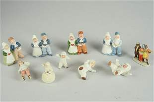 LOT OF 10 SMALL GERMAN FIGURINES
